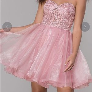 Gorgeous Pink Embroidered Dress